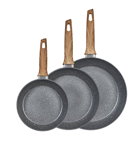 King Bratpfannenset, Aluminium, Marble Grau, 20 cm, 3-Einheiten
