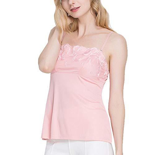 Valin HS2551 - Camiseta de tirantes para mujer (seda fina), color liso Rosa. 40