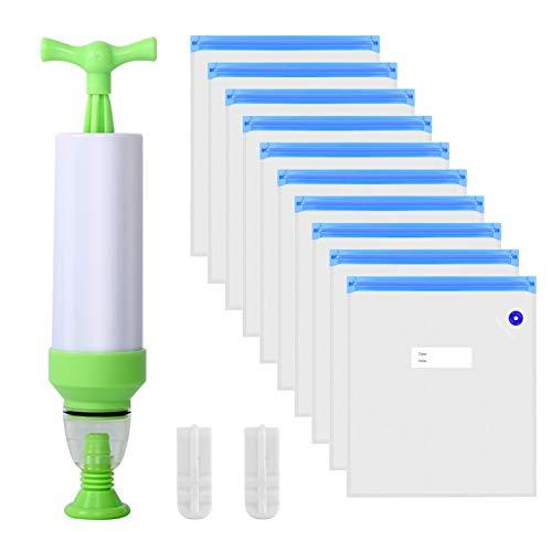 SOOWAY 10 piezas Filamento de impresora 3D A prueba de humedad Bolsa de almacenamiento Con Bomba de escape Reutilizable Bolsas selladas al vacío Para PLA ABS Proteger