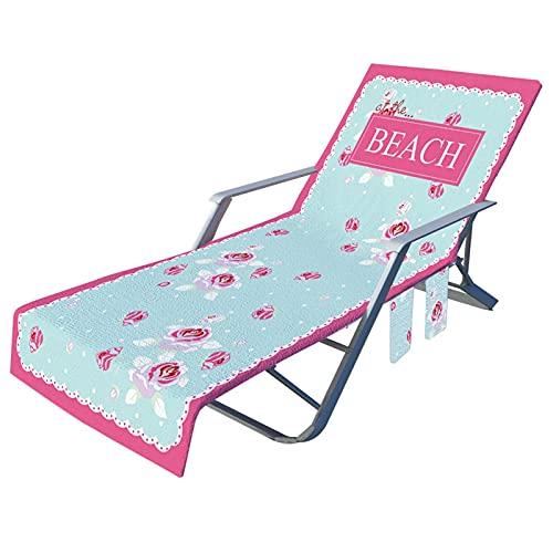 XIANLIAN Fundas de silla de playa con bolsillos, cómoda y plegable, para piscina, playa y piscina, para tumbonas, piscina, piscina, piscina, piscina, piscina, playa, vacaciones