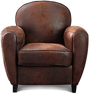 super mignon 6a9a2 e988d Amazon.fr : fauteuil club cuir vintage