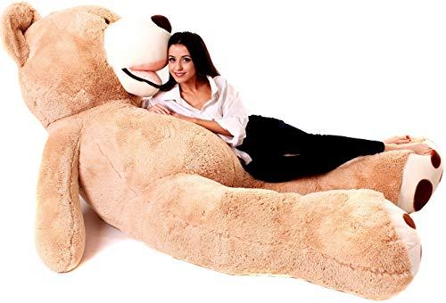 Orso Peluche Gigante - Peluche Giganti 260 cm - Orsacchiotto gigante - Orsetto di Peluche - Idee Regalo Anniversario, Compleanno, Sorprese Romantiche - Regali Bambini, Ragazza, Fidanzata – Marrone