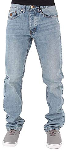 Rocawear Mens Boys Double R Star Relaxed Fit Hip Hop Jeans is Money G Time SWB (W42 - L34, Stonewash Blue)