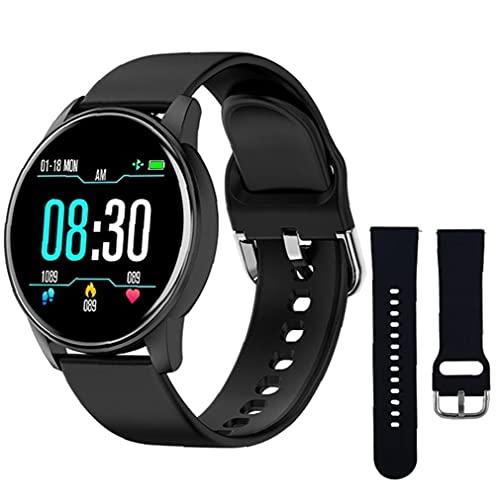 buen reloj pulsera inteligente inteligente inteligente Relojes de silicona Deportes ZL01 con Negro correa de repuesto rastreador de ejercicios de ritmo cardíaco Prueba podómetro Hombres Negro