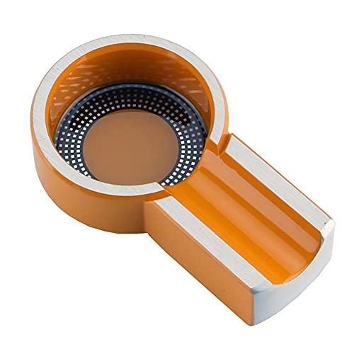 ZYCH Cenicero de Cigarros único Clásico para Uso en Interiores o Exteriores,Cenicero para Fumadores,Hogar,Oficina,Patio,Decoración de Mesa,Bonito Regalo 11 * 6.5 * 2.6cm (Color : Orange)