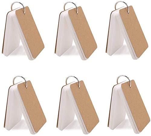 単語帳 単語カード 50枚×6冊300枚 暗記カード 暗記効率アップ カードリングとじ 英語 漢字 試験 検定