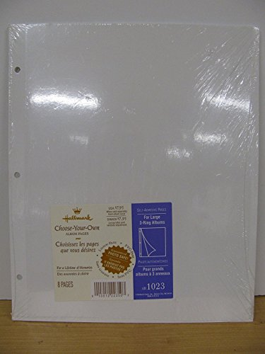 Hallmark Self Adhesive Pages For Large 3-Ring Albums Refill AR1023