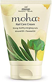 moha: Nail Care Cream (100 g) For Cuticle Care, Nail Growth & Strength With Goodness of Almond Oil & Flexseed Oil | Soft, ...