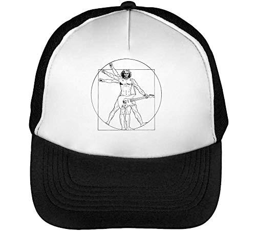 Leonardo Da Vinci Rockstar Funny Gorras Hombre Snapback Beisbol Negro Blanco