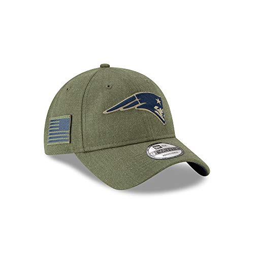 New Era New England Patriots 9twenty Adjustable Cap On Field 2018 Salute to Service Green - One-Size