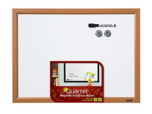 Quartet Dry Erase Board, Whiteboard / White Board, Magnetic, 17' x 23', Assorted Frame Colors - Color Will Vary, 1 Board (MWDW1723M)