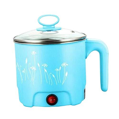 FLAMEER Elektrische Kochtopf Suppentopf Nudeltopf für 1-2 Personen - Blue_Dia.18cm