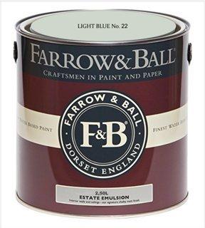 Farrow & Ball Estate Emulsion 2,5 Liter - LIGHT BLUE No. 22