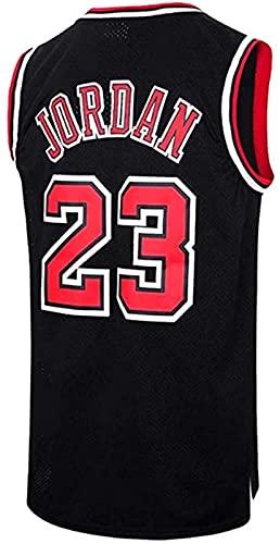 xzl Hombres Baloncesto Jersey NBA Michael Jordan #23 Youth Training Chaleco Transpirable Ropa Deportiva Clásica, Negro - M