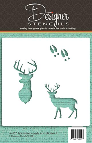 Designer Stencils - Plantilla para galletas y manualidades (CM120)