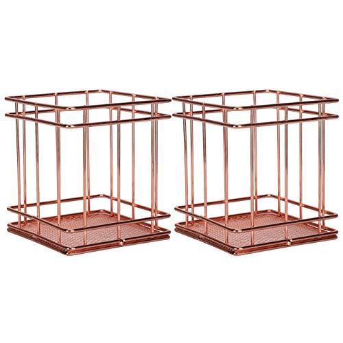 Alinory Alterungsbeständigkeit Lagerplätze Edelstahl Metall Lagerung Organizer, 2 Stück Organisationskorb, für Home Office