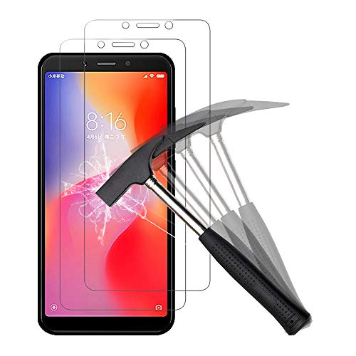 ANEWSIR Schutzfolie für Xiaomi Redmi 6/Redmi 6A, Schutzfolie Gehärtetes Glas, 9H Festigkeit, Einfache Installation, Anti- Kratzer, Anti-Bläschen, Bildschirmschutzfolie Bildschirmschutz Folie.