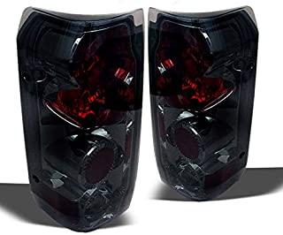 Xtune Smoked 1989-1996 Ford F150/F250/Bronco Tail Lights Rear Brake Smoke Lamps Pair L+R 1990 1991 1992 1993 1994 1995
