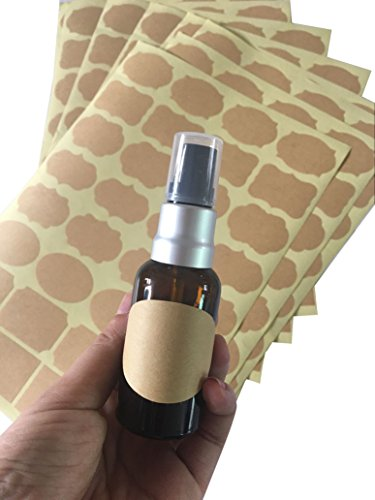 6 hojas 192 unidades etiquetas papel kraft tamaño