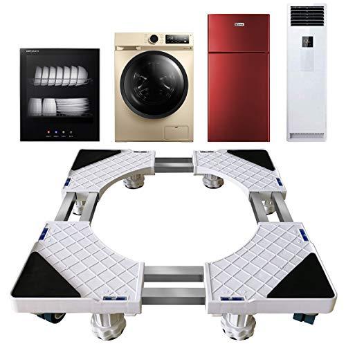 Glenmore Regolabile Base Lavatrice Carrello Asciugatrice Supporto Universale Frigorifero con 8 Ruote e 8 Strong Piedi porta Elettrodomestici