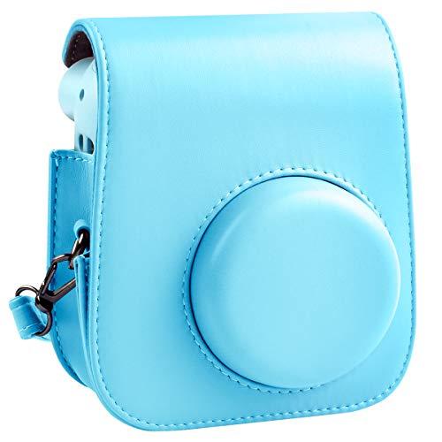 Schutzhülle und tragbare Tasche Kompatibel mit Fujifilm Instax Mini 11 Sofortbildkamera mit Zubehörtasche und verstellbarem Gurt. (Blau)