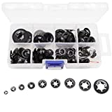 260pcs[9 Sizes] Black Starlock Internal Tooth Lock Washers Assortment Kit, M2/ M2.5/ M3/ M...