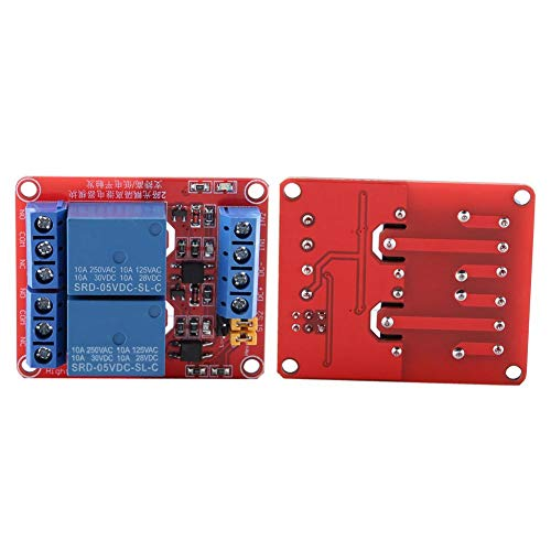 Módulo de relé de 2 canales con optoacoplador, Tarjeta de expansión de disparo de bajo nivel para Arduino 5V / 12V / 24V(12V)