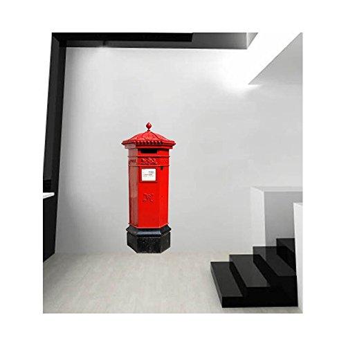 Stickers voor brievenbus in het Engels. L 60cm x H 170cm