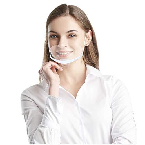 10 Stück Mund Gesichtsschutz aus Kunststoff Gesichtsschild Schutzvisier Schutzschild Visier