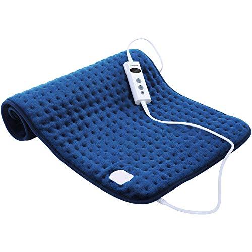 DISUPPO 45 x 85 cm Elektrisches Heizkissen Mit Automatischer Abschaltung, 10 Temperatureinstellungen, Schnelle Erwärmung, für Rücken / Nacken / Schulter zur Linderung von Rückenschmerzen und Krämpfen