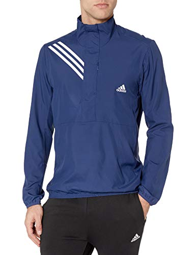 adidas Men's Run It Anorak 3-Stripes Tech Indigo Large
