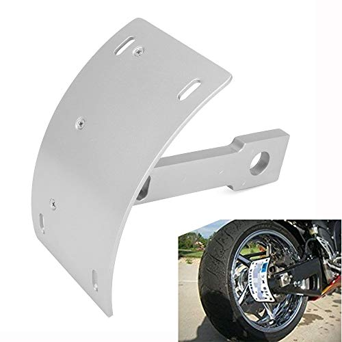 Motorcycle Side Mount License Plate Curved License Plate Tag Holder Bracket For Yamaha Warrior 2002-2005,V-Max All Years