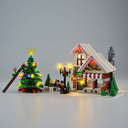 Hima LED-Beleuchtungsset für Lego 10249, das LED-Beleuchtungsset für Mauerwerk Kompatibel mit Creator Expert Bausatz für Winterspielzeuggeschäfte, ohne Lego-Modell