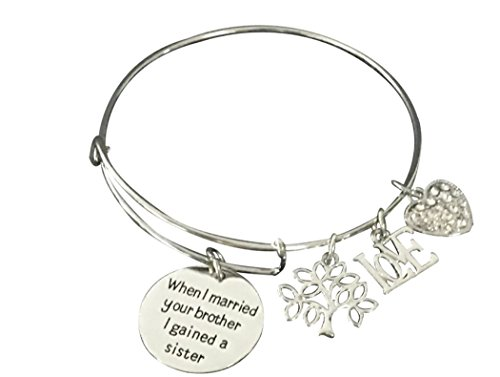 Sister-in-Law Bracelet- Sister By Marriage Friends by Choice, Sister in Law Gifts, Sister in Law Jewelry