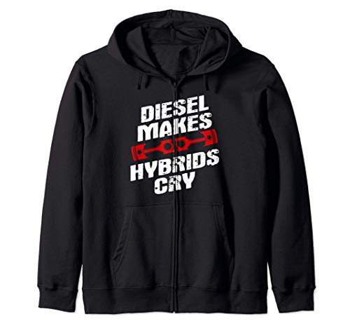 Diesel Mechanic Gifts Funny Diesel Makes Hybrids Cry Felpa con Cappuccio