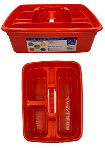 Organizador de limpieza con asas para limpieza (rojo)