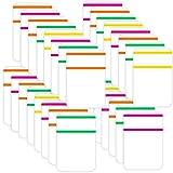 400 Piezas de Pestañas Adhesivas Etiquetas de Índice de Colores Pestañas Autoadhesivas de Bandera Notas Adhesivas de 1 Pulgada para Libros y Clasificación de Archivos, Carpeta, 5 Juegos