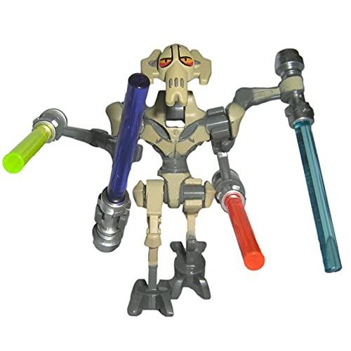 Custom Brick Design Kus General Grievous Figur V.1 - modifizierte Minifigur des bekannten Klemmbausteinherstellers und somit voll kompatibel zu Lego