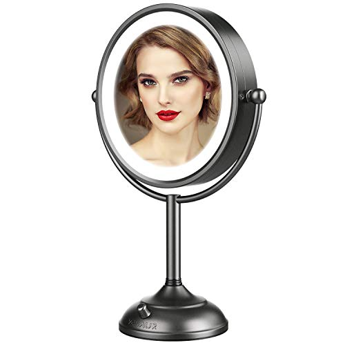 VESAUR Professional 10' [Large Tall Size] Lighted Makeup Mirror, 10X 2-Sided Magnifying Vanity...