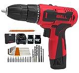 Best Cordless Power Drills - iBELL Cordless Drill Driver CD12-74, 12-Volts, 2 Battery+BMC Review