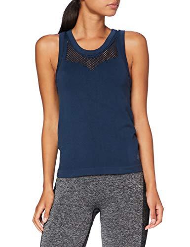 Marca Amazon - AURIQUE Camiseta de Deportede Tirantes Mujer, Azul (Dress Blue),...