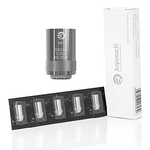 Confezione 5 pz. Coil di ricambio per atomizzatore Cubis Joyetech 1,0 ohm SS316 Senza Nicotina Sigaretta Elettronica