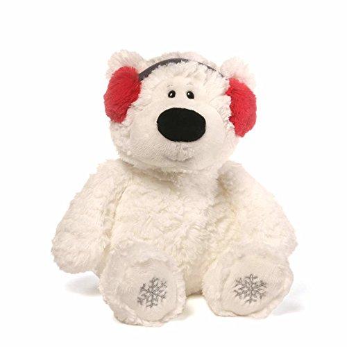GUND Blizzard Teddy Bear Holiday Stuffed Animal Plush, White, 12'