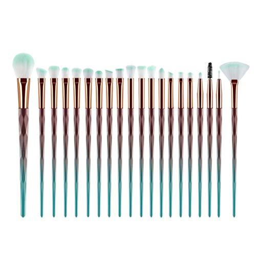 Froid Juego de 20 brochas de maquillaje híbridas sintéticas de alta calidad para sombra de ojos, ojos y rostro.