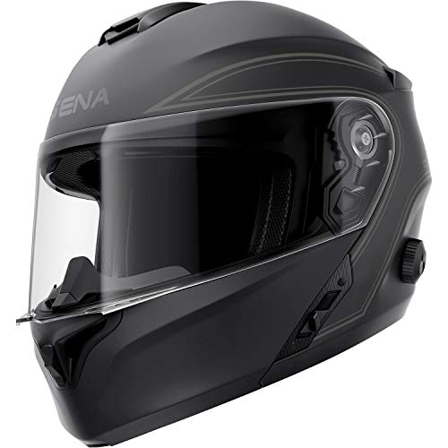 Sena Outrush Modular Smart Helmet (Matte Black, Large)