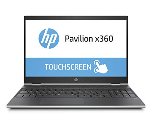 HP Pavilion x360 15-cr0002ng (15,6 Zoll HD) Convetible Laptop (Intel Core i3-8130U, 1TB HDD, 16GB Intel Optane, 8GB RAM, Intel UHD Graphics, Windows 10 Home 64) schwarz / silber (Generalüberholt)