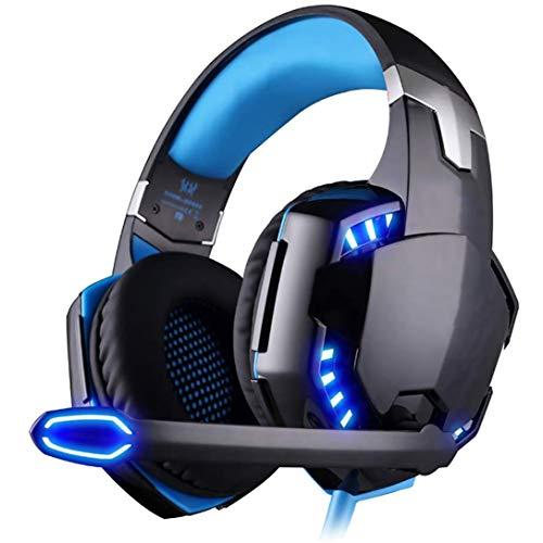 Gaming Headset PC mit Mikrofon, Audiokabel, Stereo-Audio-Bass und LED-Taschenlampe PC Gaming Headset für Xbox Ones/Nintendo Switch etc.