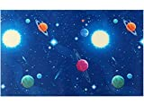Peel and Stick Vinyl Space Wallpaper for Nursery Boys Kids Room Wall Removable Self Adhesive Space Shelf Drawer Liner Contact Paper Furniture Sticker 17.7x117 Inches