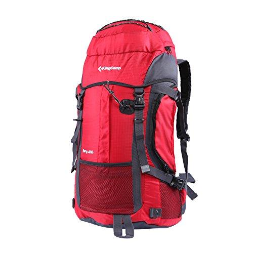 KingCamp Berg 40 Liter Camping Wandern Reise Rucksack Tasche Rot (Rot / grau)