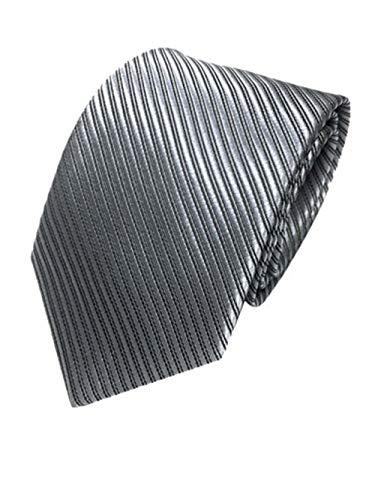UJUNAOR Edle Herren Fliegen Krawatte in gestreift Gemustert - Tie Binder(Grau)
